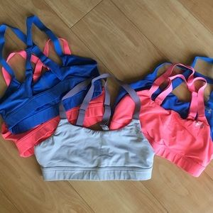 Lot of 5 Under Armour Sports Bra Size Small